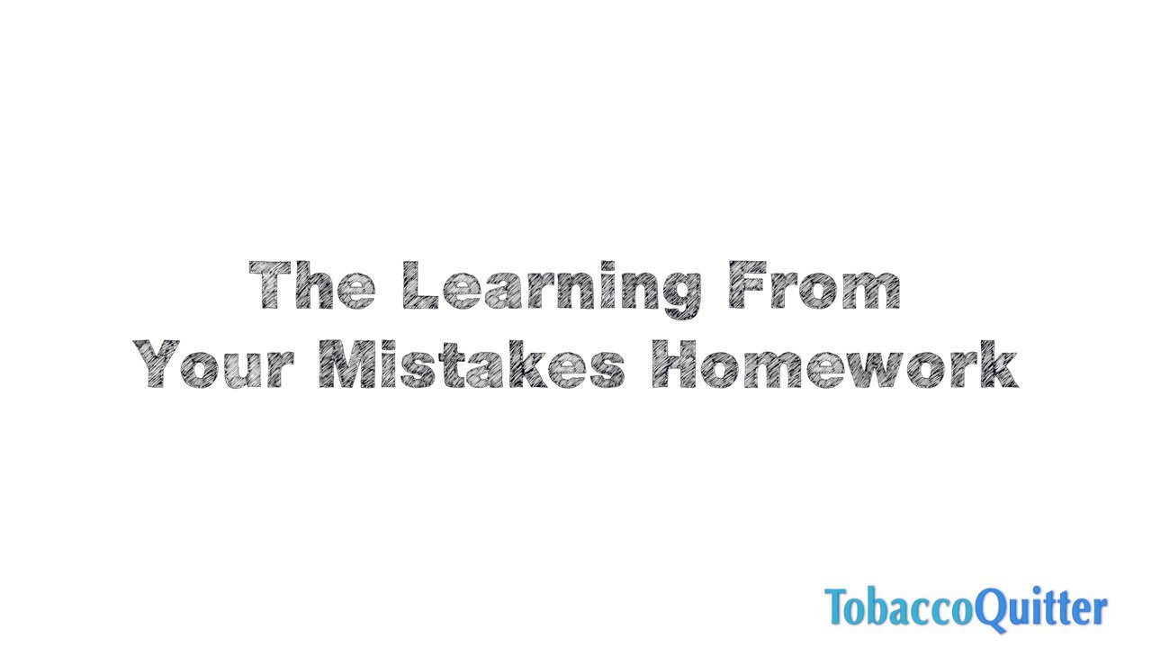 Homework Learning From Mistakes