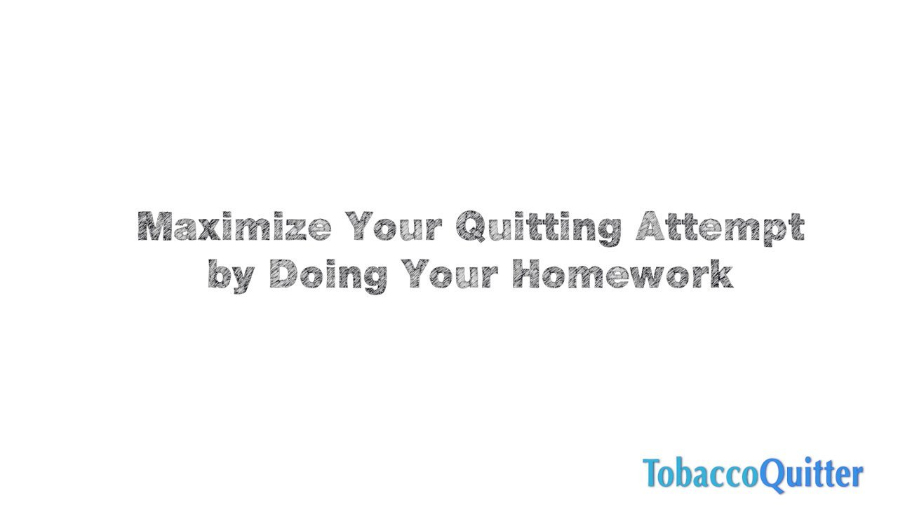 Why Doing Homework Will Help You Quit Smoking