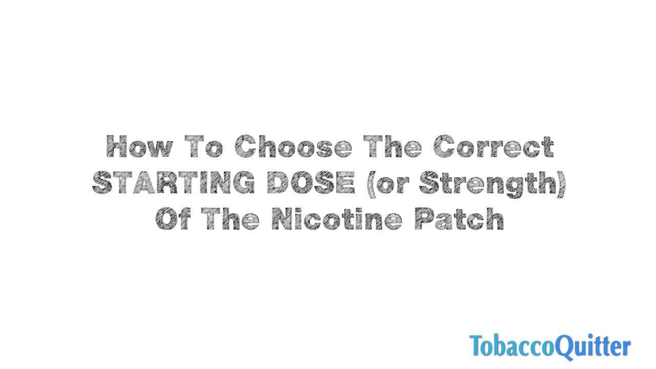 Which Strength of Patch Should I Start With